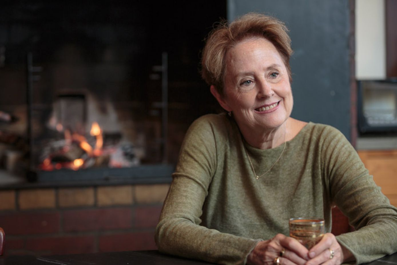 Alice Waters in her kitchen in Berkeley.