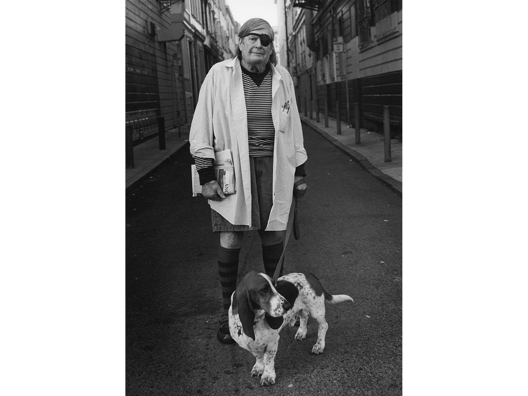 Warren Hickle and his dog Bentley.