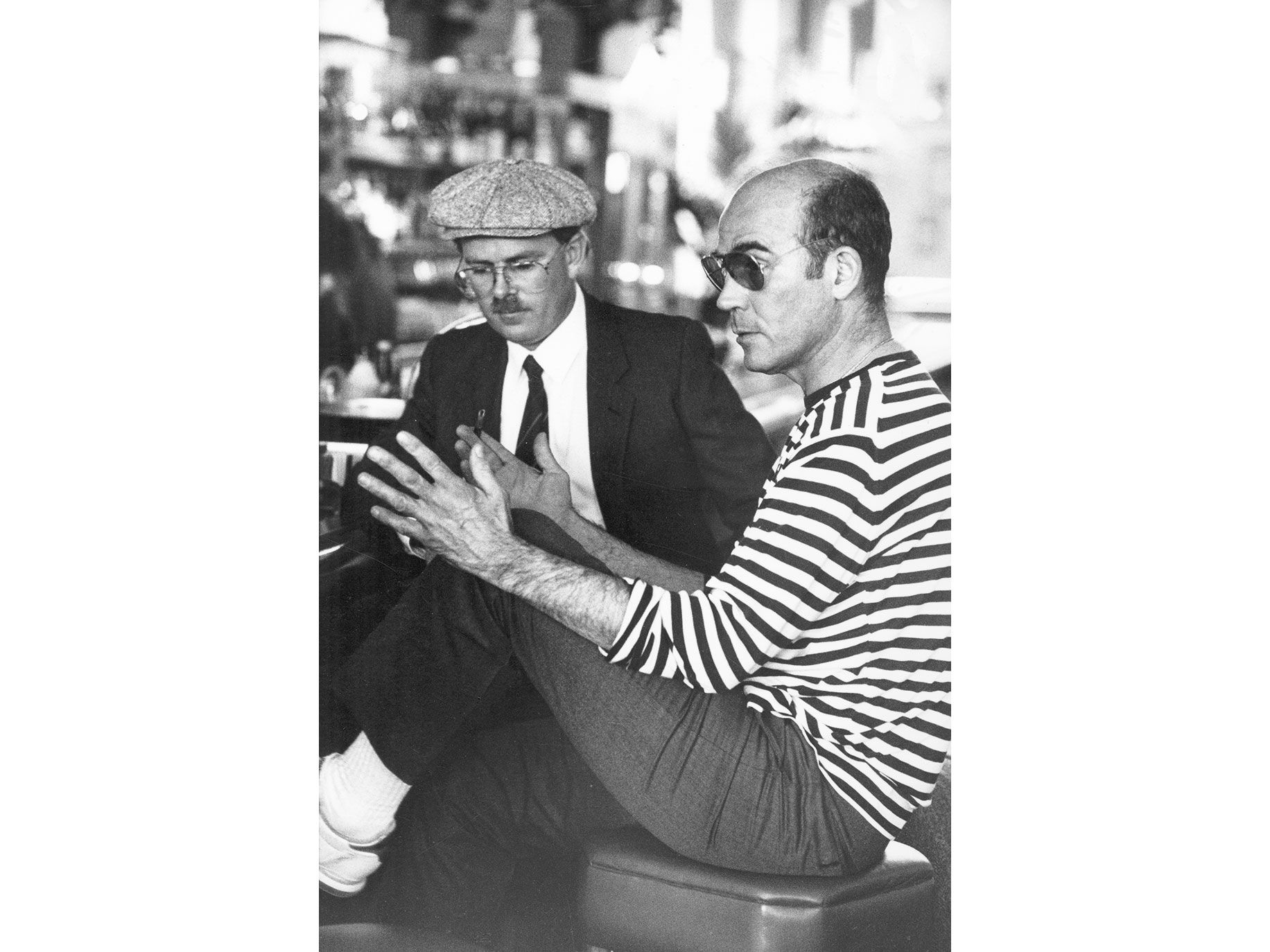HUNTER S. THOMPSON: When I told Hunter our publishing plan, he told me that this was a plum insane thing to do.