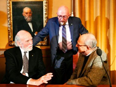 Left to right, Barry C. Barish, Kip S. Thorne and Rainer Weiss shared the 2017 Nobel Prize in Physics for their work detecting gravitational waves. They were the leaders of a much broader collaborative effort.