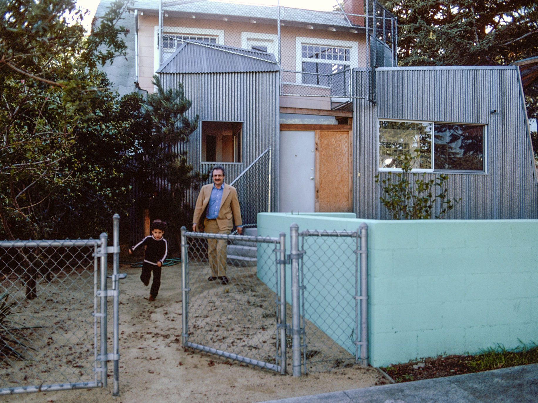 Gehry's self-designed home in Santa Monica, in 1980.