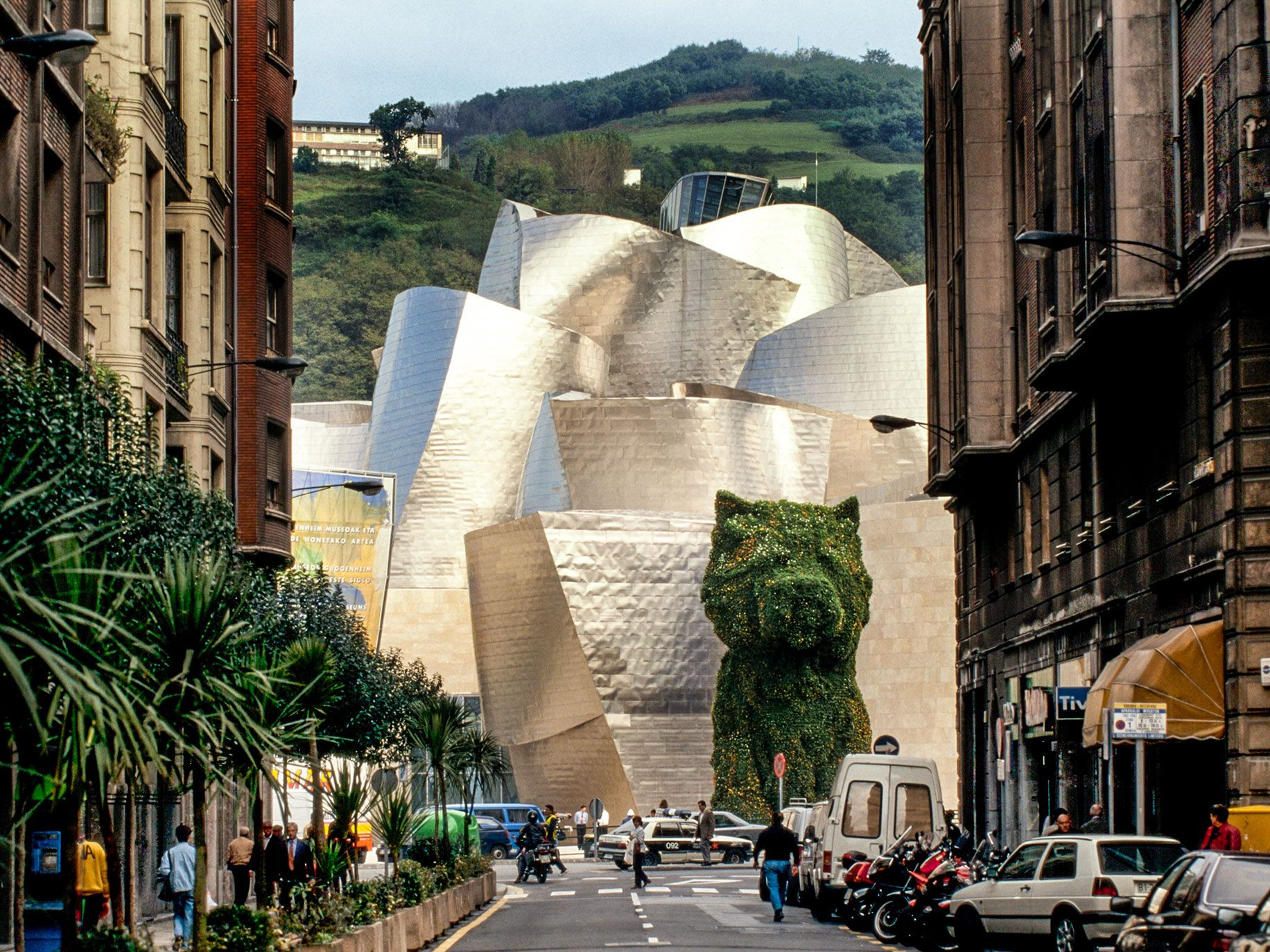 Gehry's famous Guggenheim Museum Bilbao in Spain, opened in 1997.