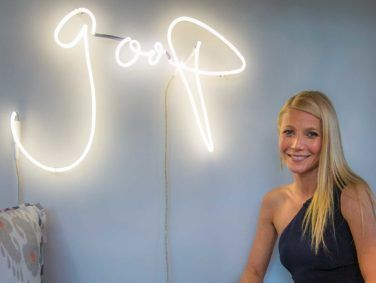 Actress Gwyneth Paltrow at a launch party for her GOOP lifestyle brand.