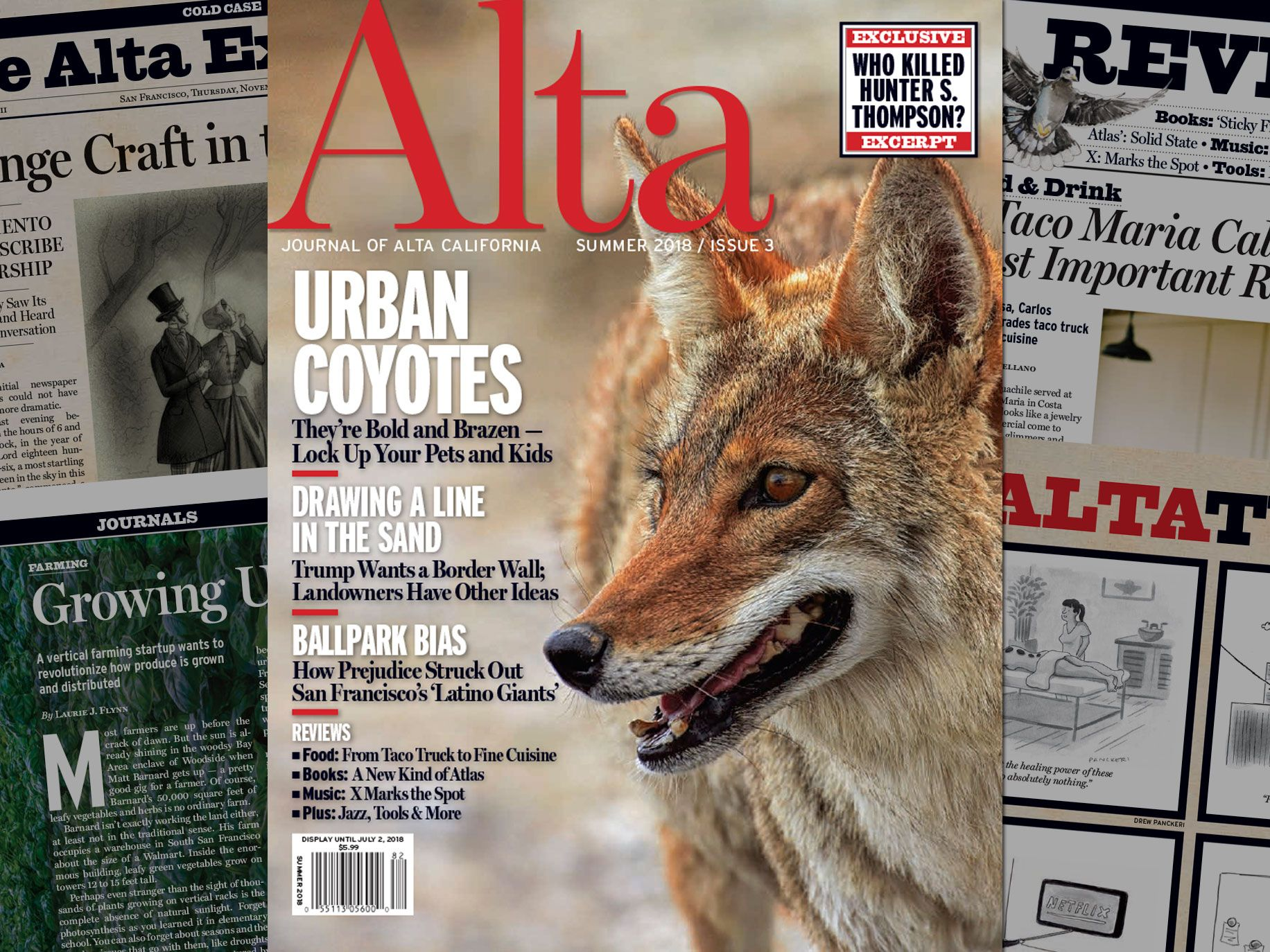 Journal of Alta California Cover - Featuring Urban Coyotes