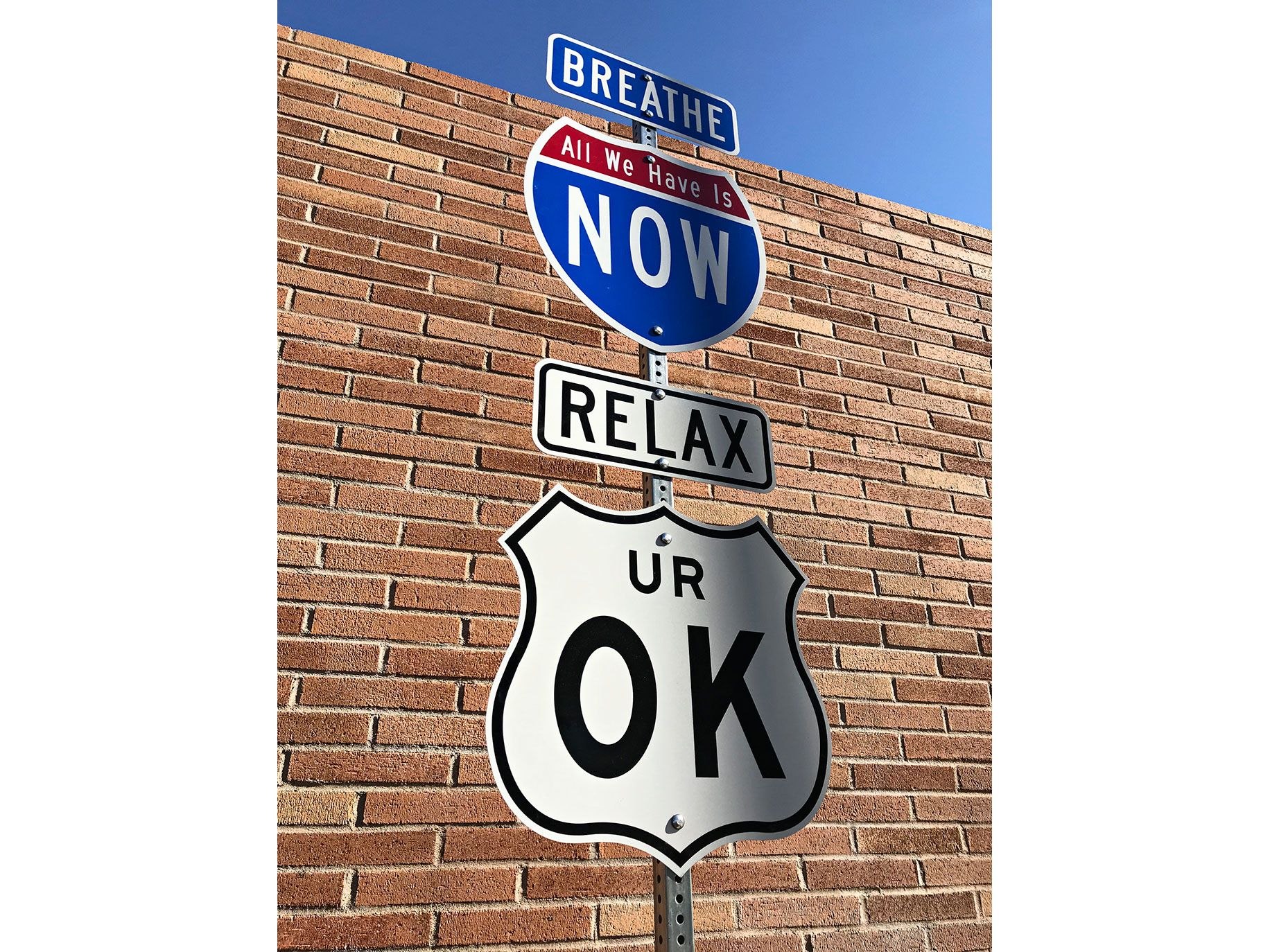 """Part of Scott Froschauer's """"The Word on the Street"""" sign series for the festival."""