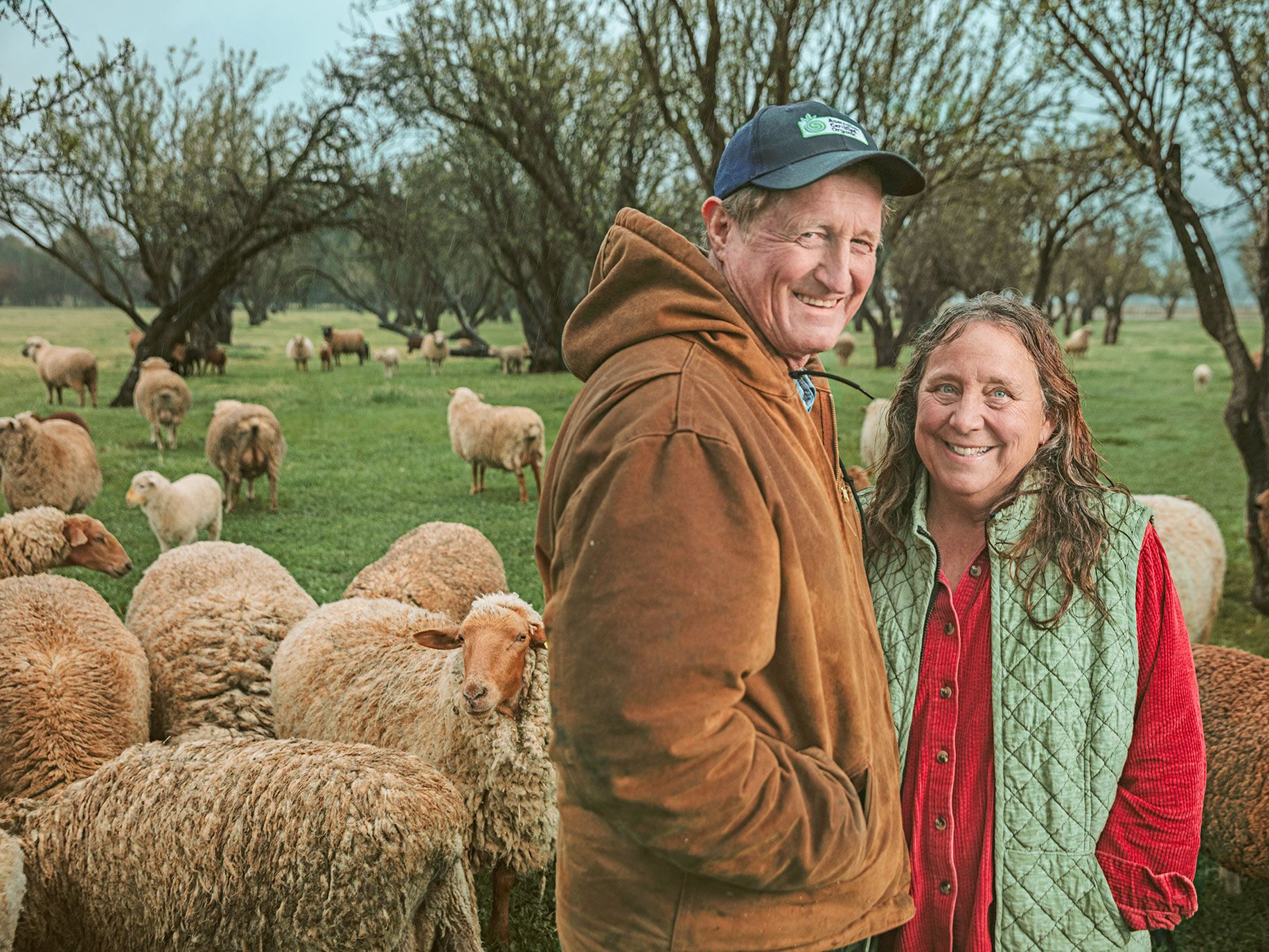 Paul Muller and Dru Rivers of Full Belly Farm, which recently transformed into a corporation to create a structure for younger family members to eventually take over.