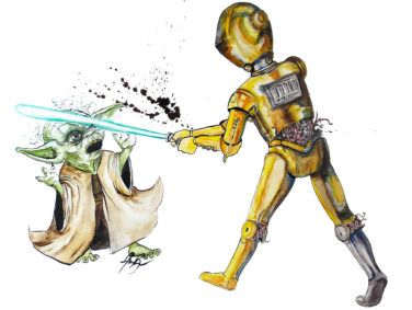 """Star Wars"" illustration"
