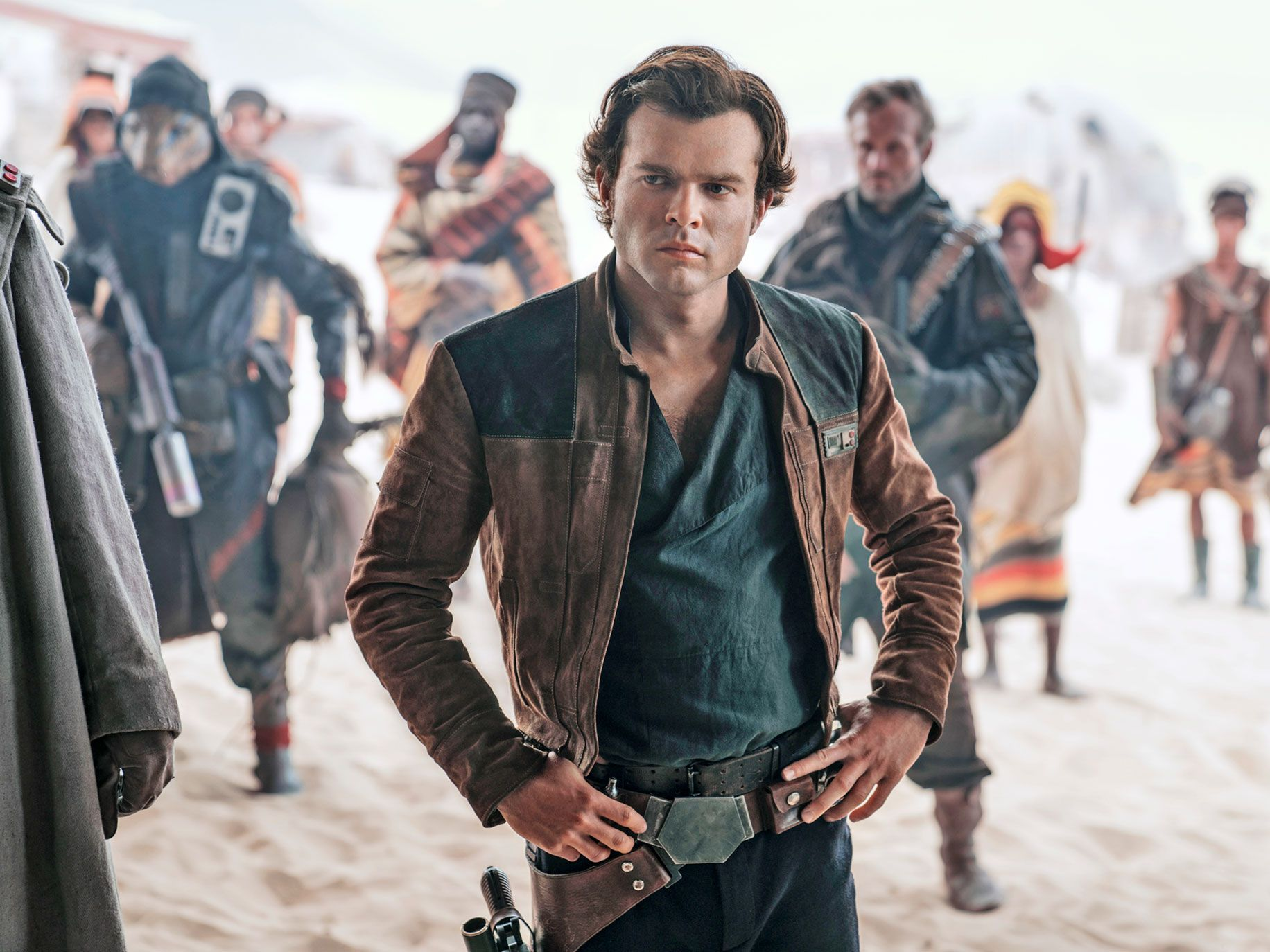 "Alden Ehrenreich plays Han Solo in the latest Star Wars movie, ""Solo: A Star Wars Story."""