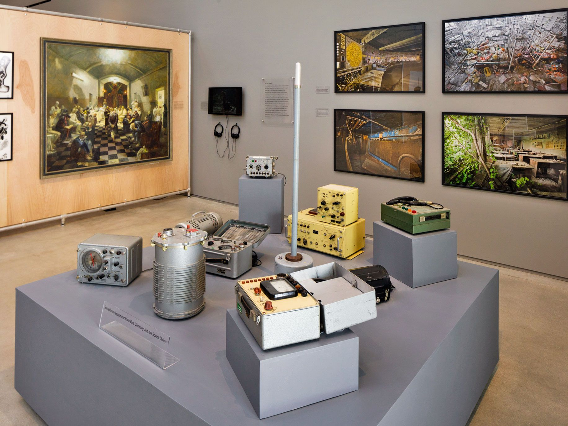 The Wende Museum's exhibits include Cold War surveillance equipment, artwork and photos.