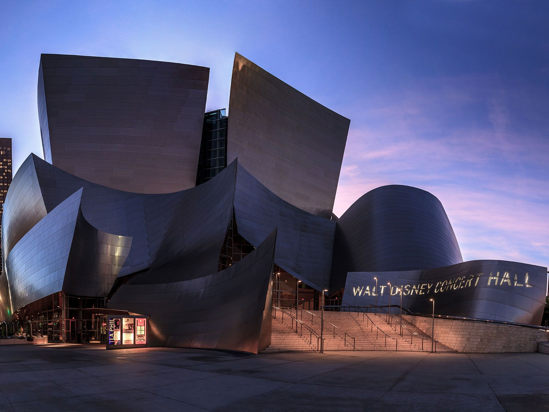 Walt Disney Concert Hall, one of Ramelli's favorite pieces of architecture in Los Angeles.