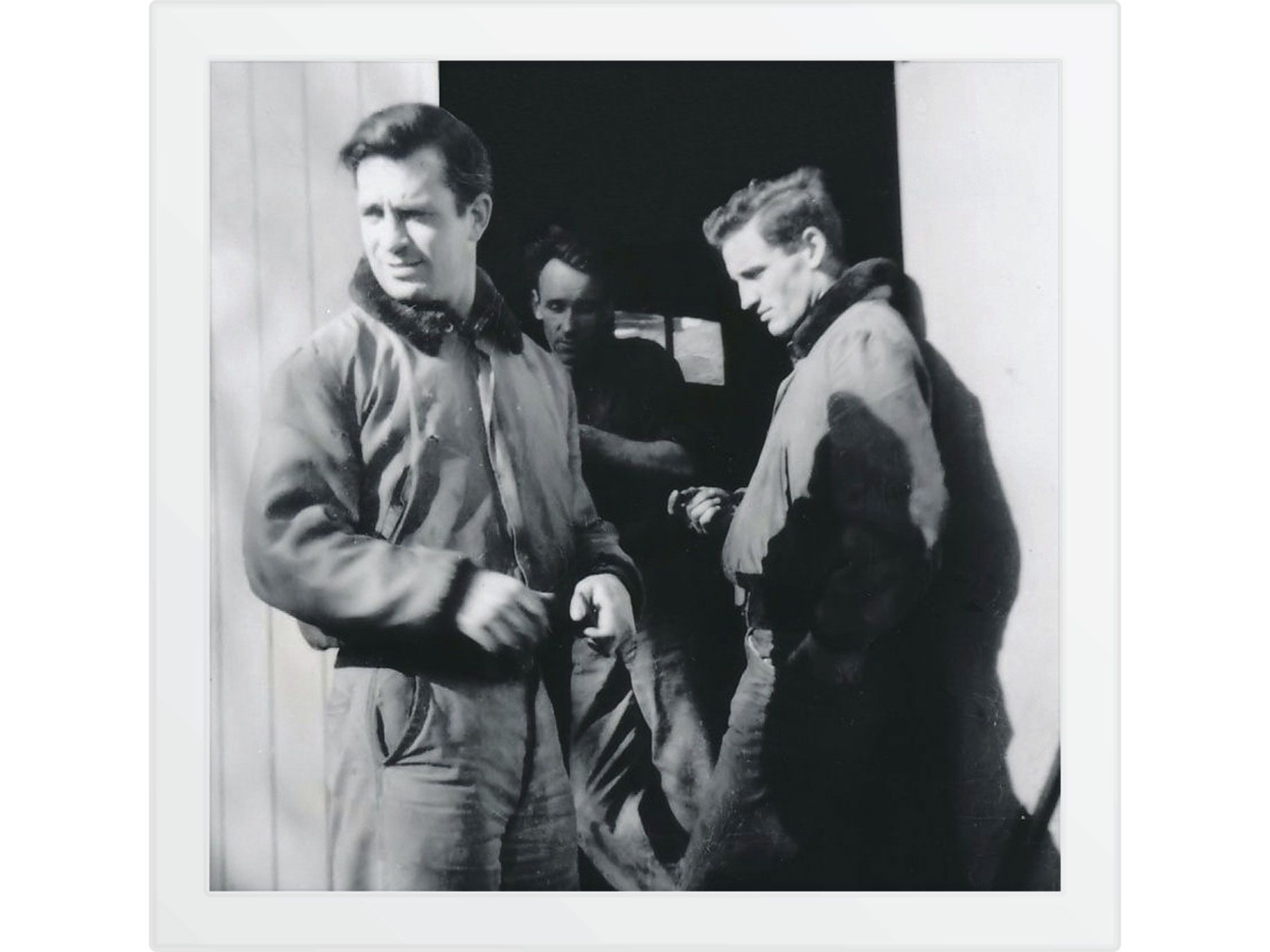 "Cassady with his friend Jack Kerouac, whose ""On The Road"" was inspired by the ""Joan Anderson Letter."""