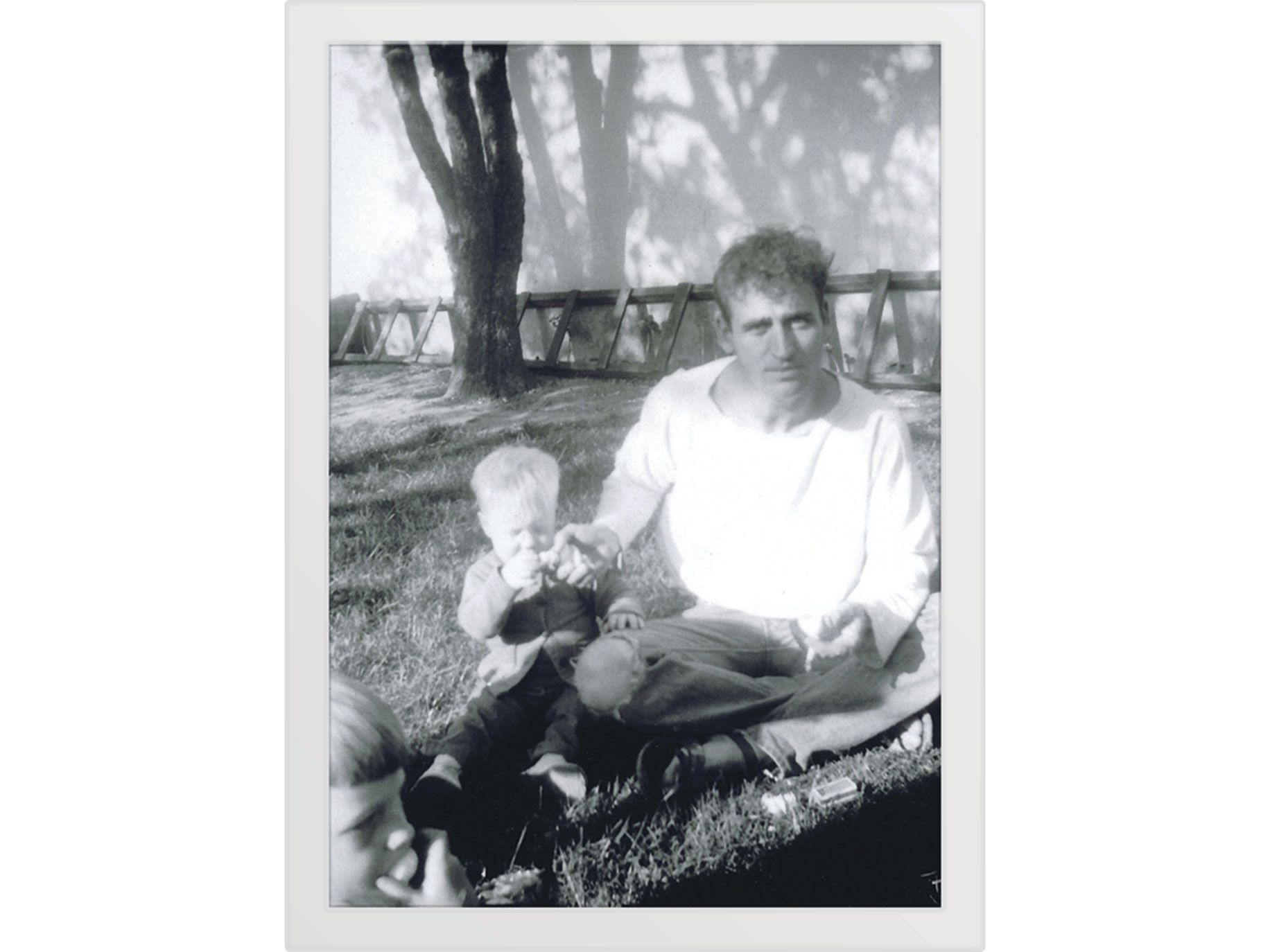 Cassady with his son John.