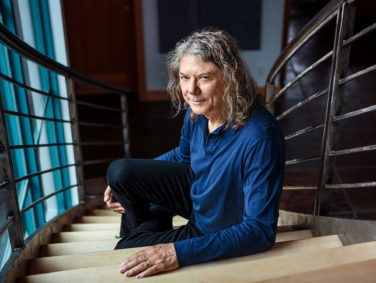 Musician, music producer and investor Jerry Harrison at his home in Marin County.