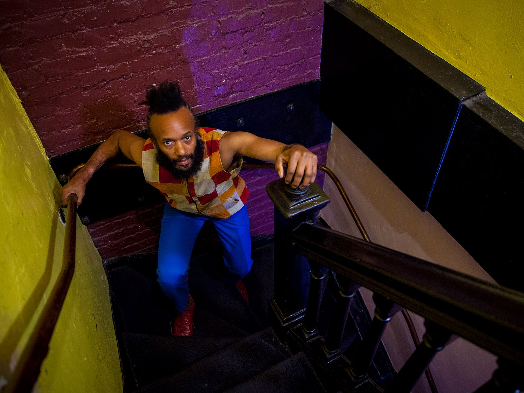 Fantastic Negrito backstage at The Fillmore in San Francisco.