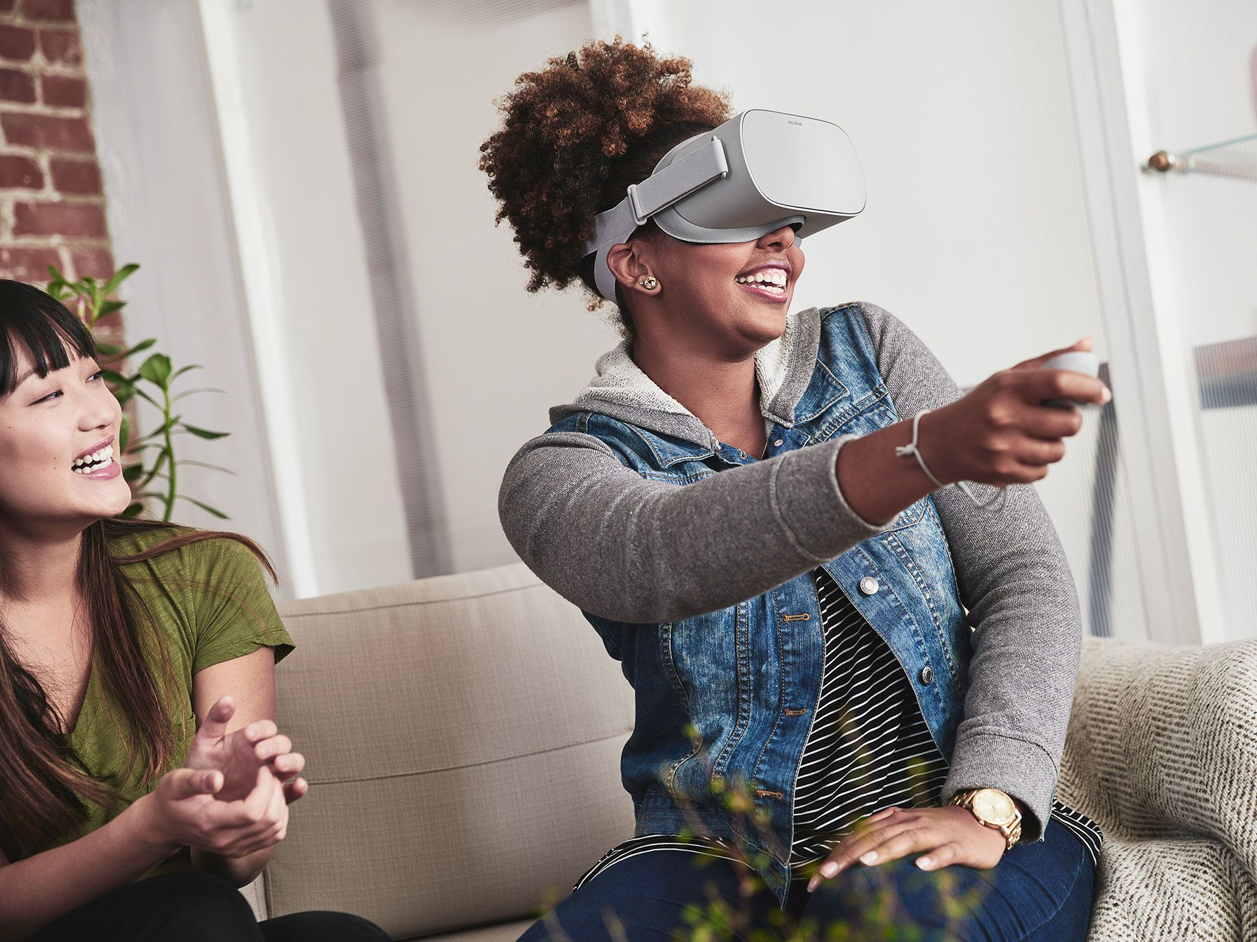 The Oculus Go offers virtual reality experiences at a budget price.
