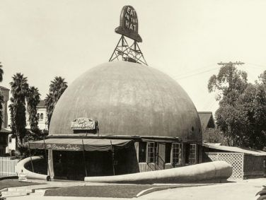 """California Crazy"" chronicles the history of some of the state's more unusual structures, including The Brown Derby in Los Angeles (circa 1930)."
