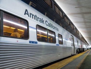 An Amtrak train at Fullerton.