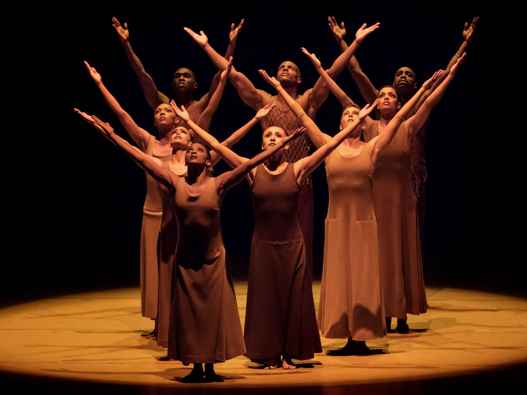 "The opening image to Alvin Ailey's ""Revelations"" is so famous that it often receives its own ovation."