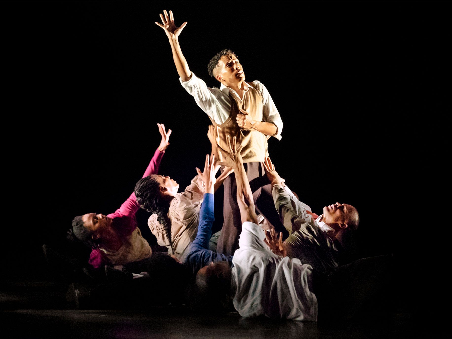 """Inspired by Ailey's life and legacy, """"Lazarus"""" contains moments of wild abandon juxtaposed with hip-hop's disciplined and ritualized vocabulary."""