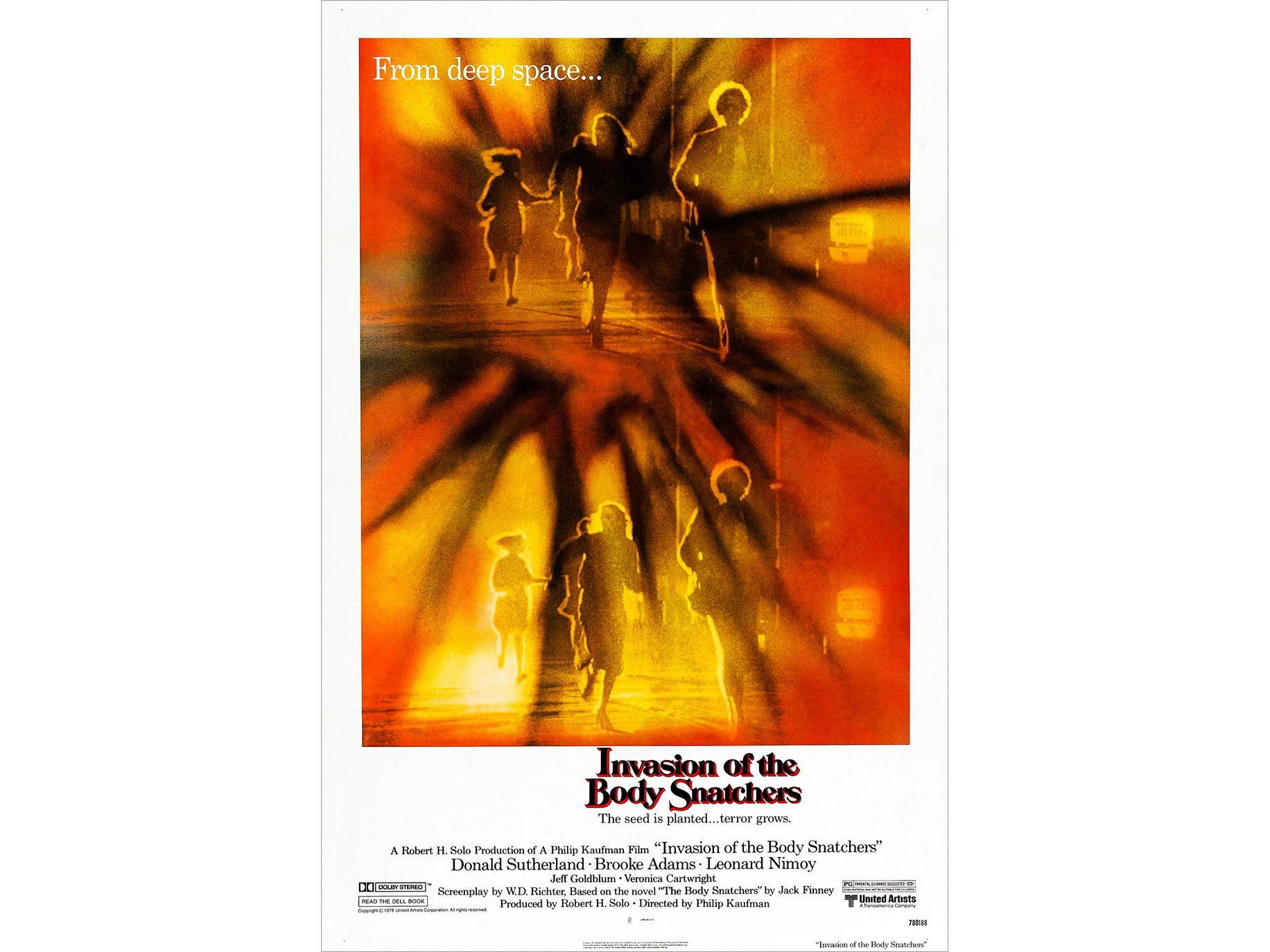 "Movie poster from the 1978 release of ""Invasion of the Body Snatchers."""