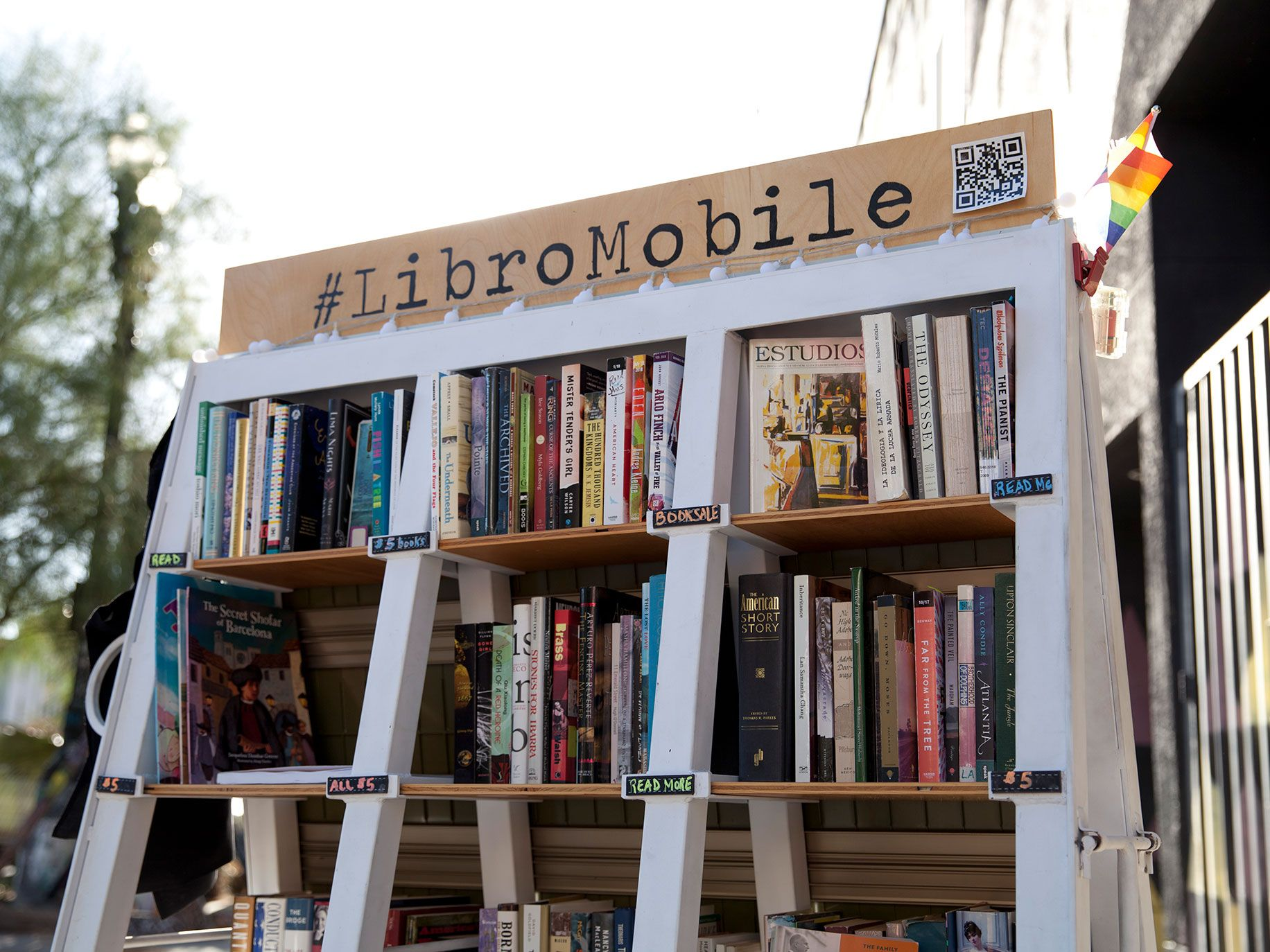 The planter cart that served as the first version of Sarah Rafael Garcia's LibroMobile.