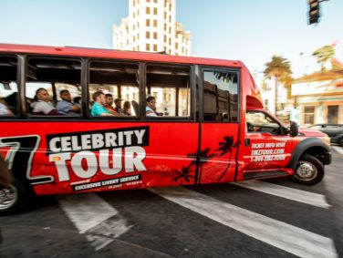 """Wait! Isn't that…?"" ""No, it's not."" TMZ's tour bus meanders through Hollywood in search of celebrities to point out to paying customers."
