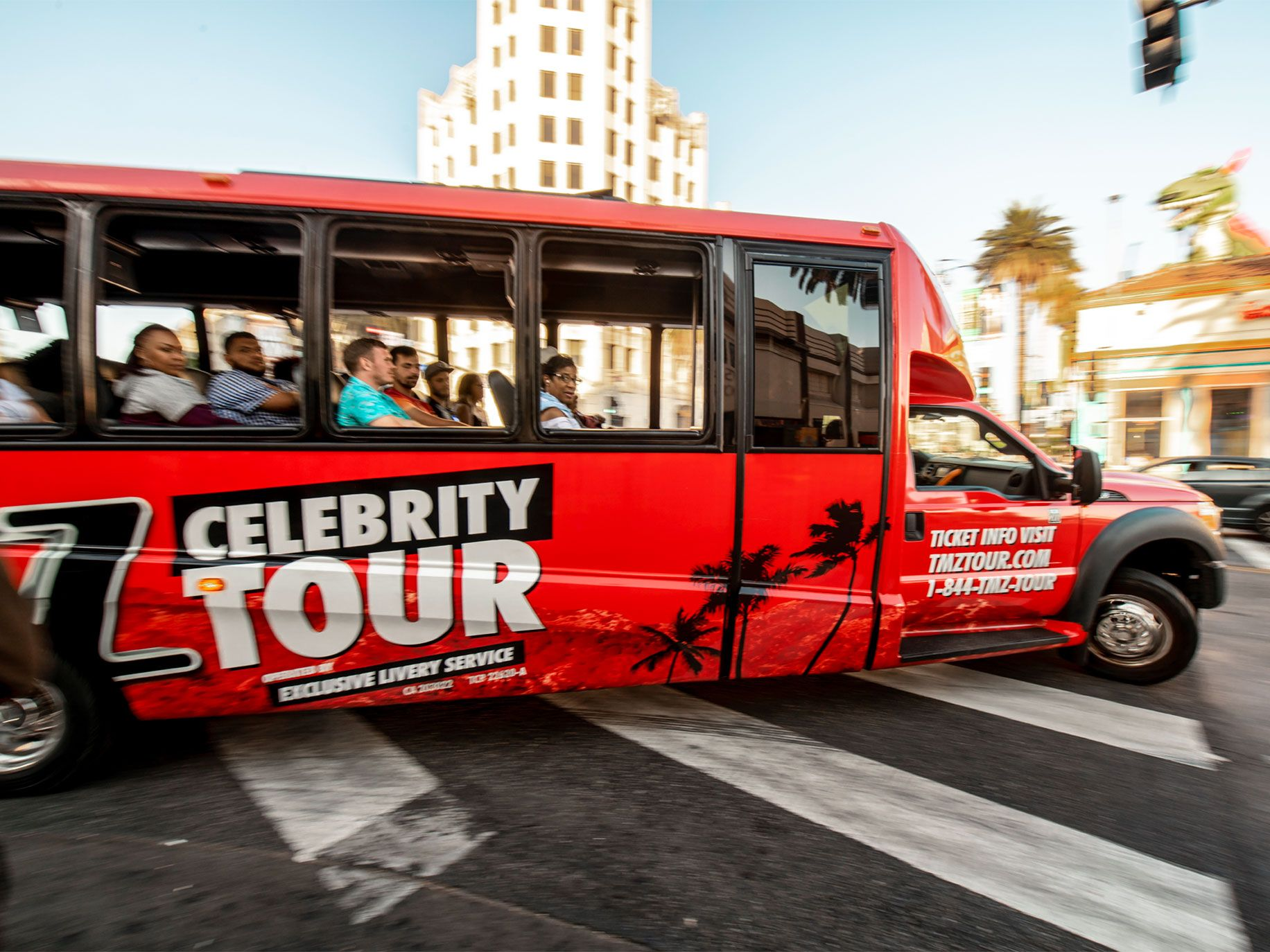 """""""Wait! Isn't that…?"""" """"No, it's not."""" TMZ's tour bus meanders through Hollywood in search of celebrities to point out to paying customers."""