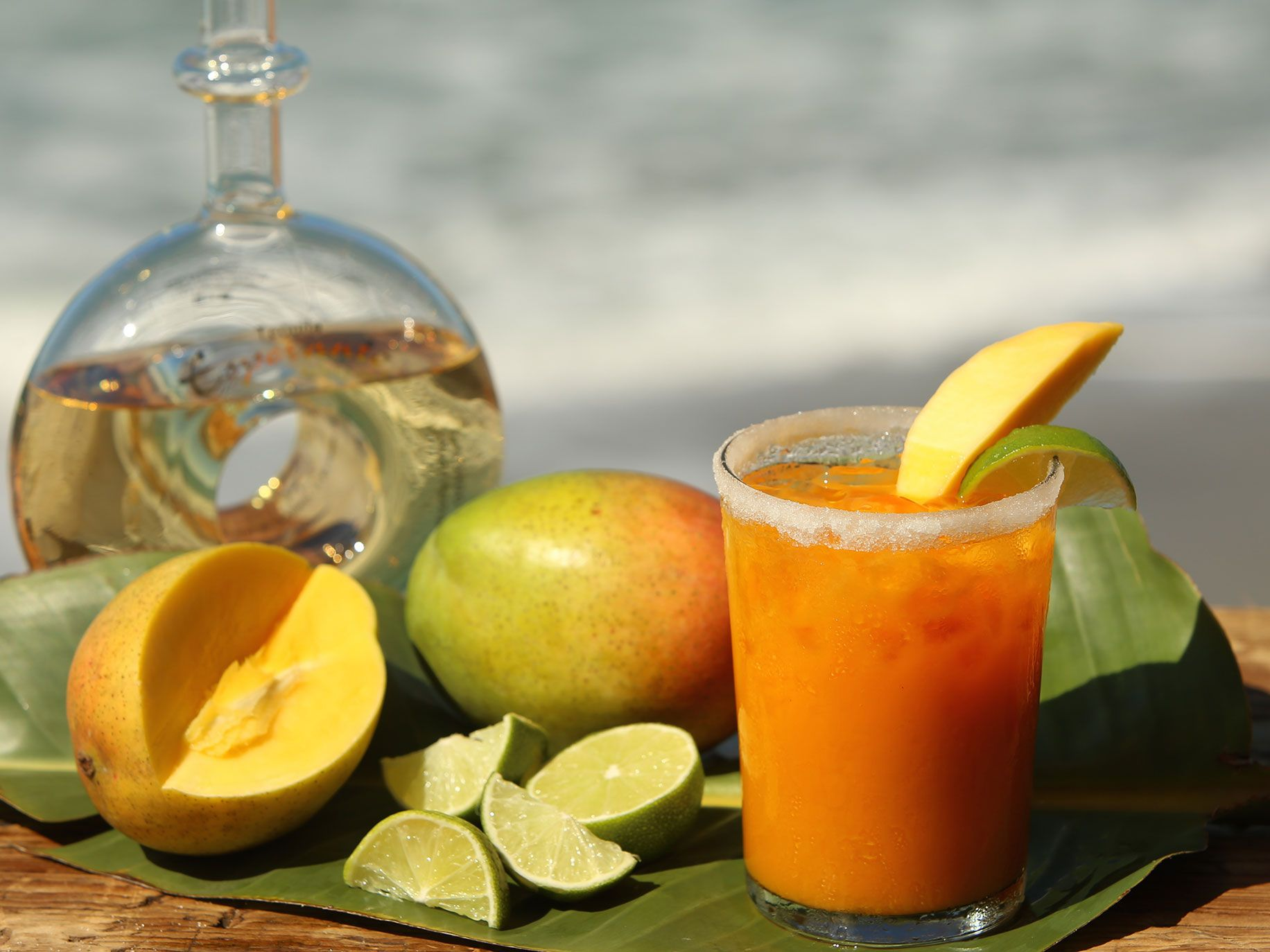 "Mango margarita from """"First We Surf, Then We Eat: Recipes From a Lifetime of Surf Travel."""