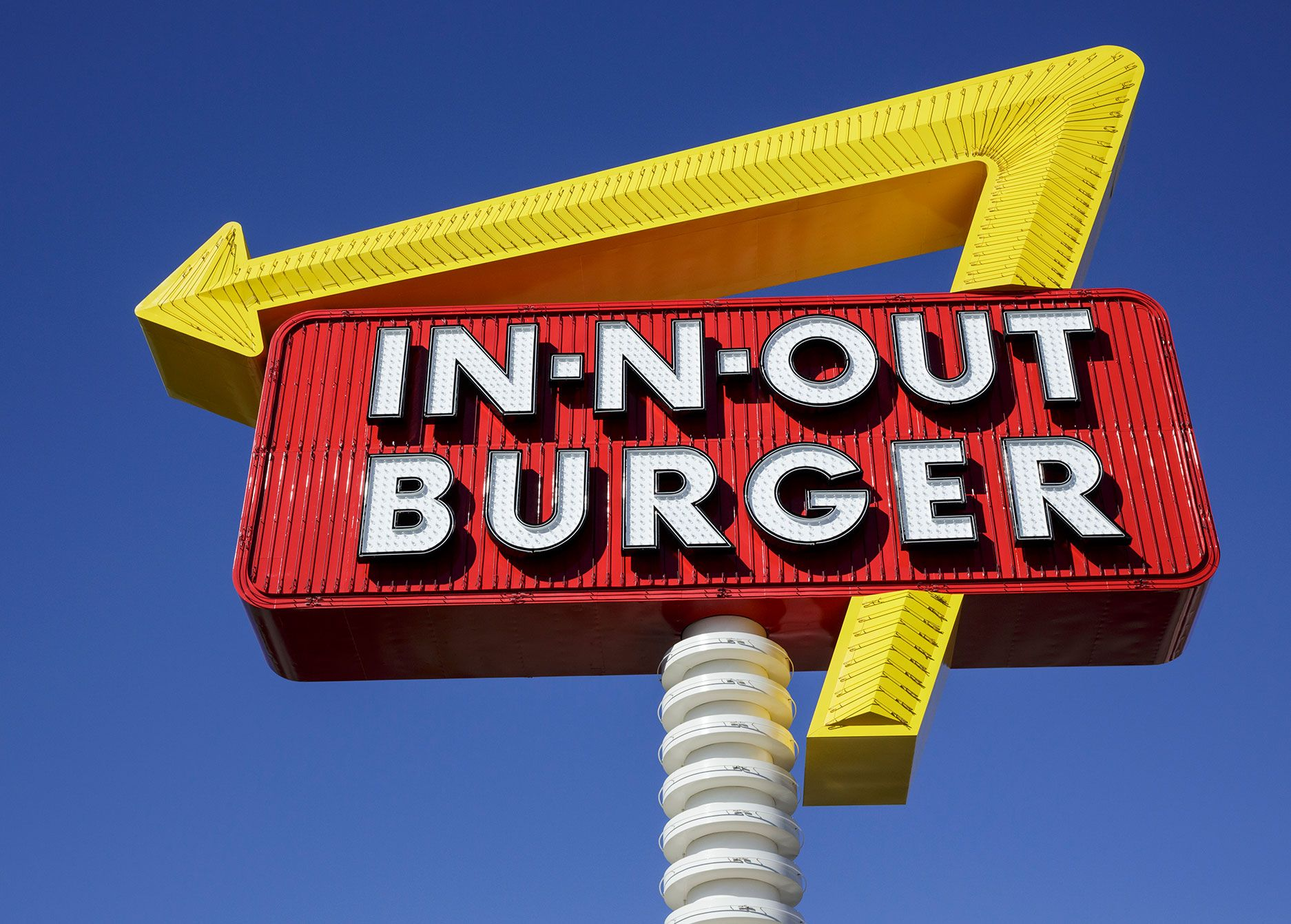 fast food restaurant In-N-Out Burger is located in five states.
