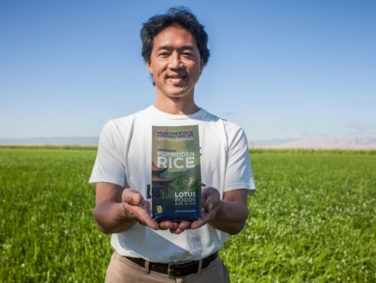 Ken Lee, co-founder and co-owner of Lotus Foods, photographed in an organic rice field located in Maxwell, Calif.