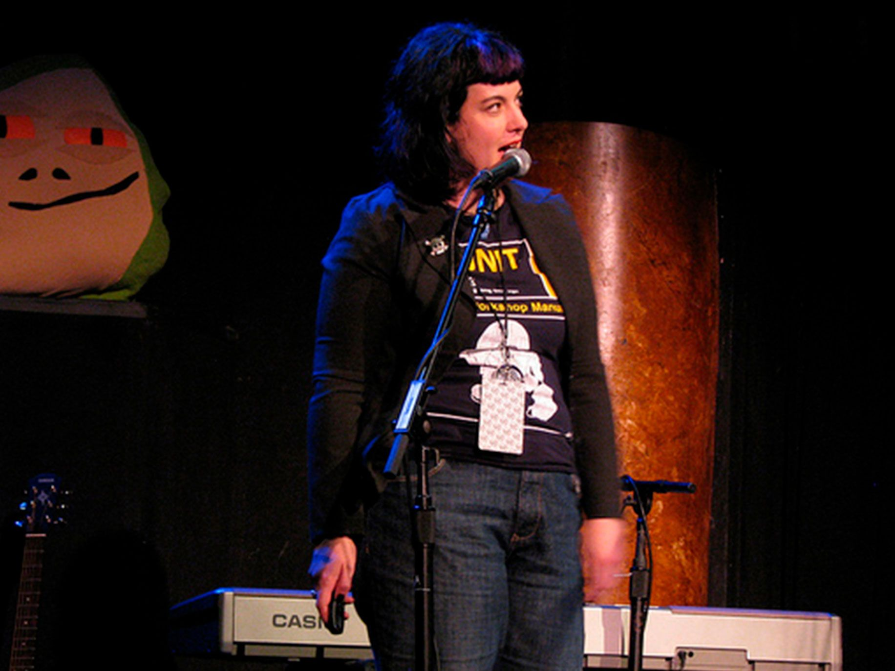 Bonnie Burton talks about making bizarre Star Wars crafts on stage at w00tstock San Francisco in 2010.