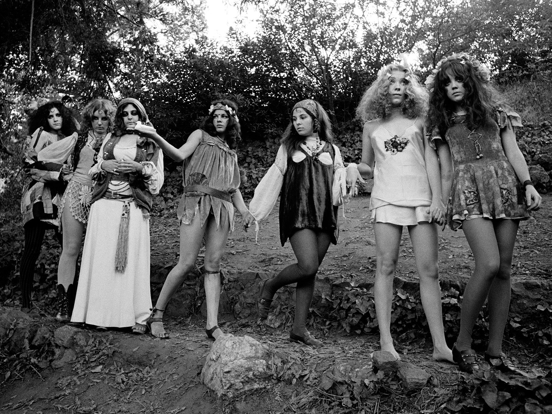 Pop group The GTOs (Girls Together Outrageously), from left to right: Miss Christine, Miss Cynderella, Miss Mercy, Miss Lucy, Miss Sandra, Miss Pamela and Miss Sparkie.