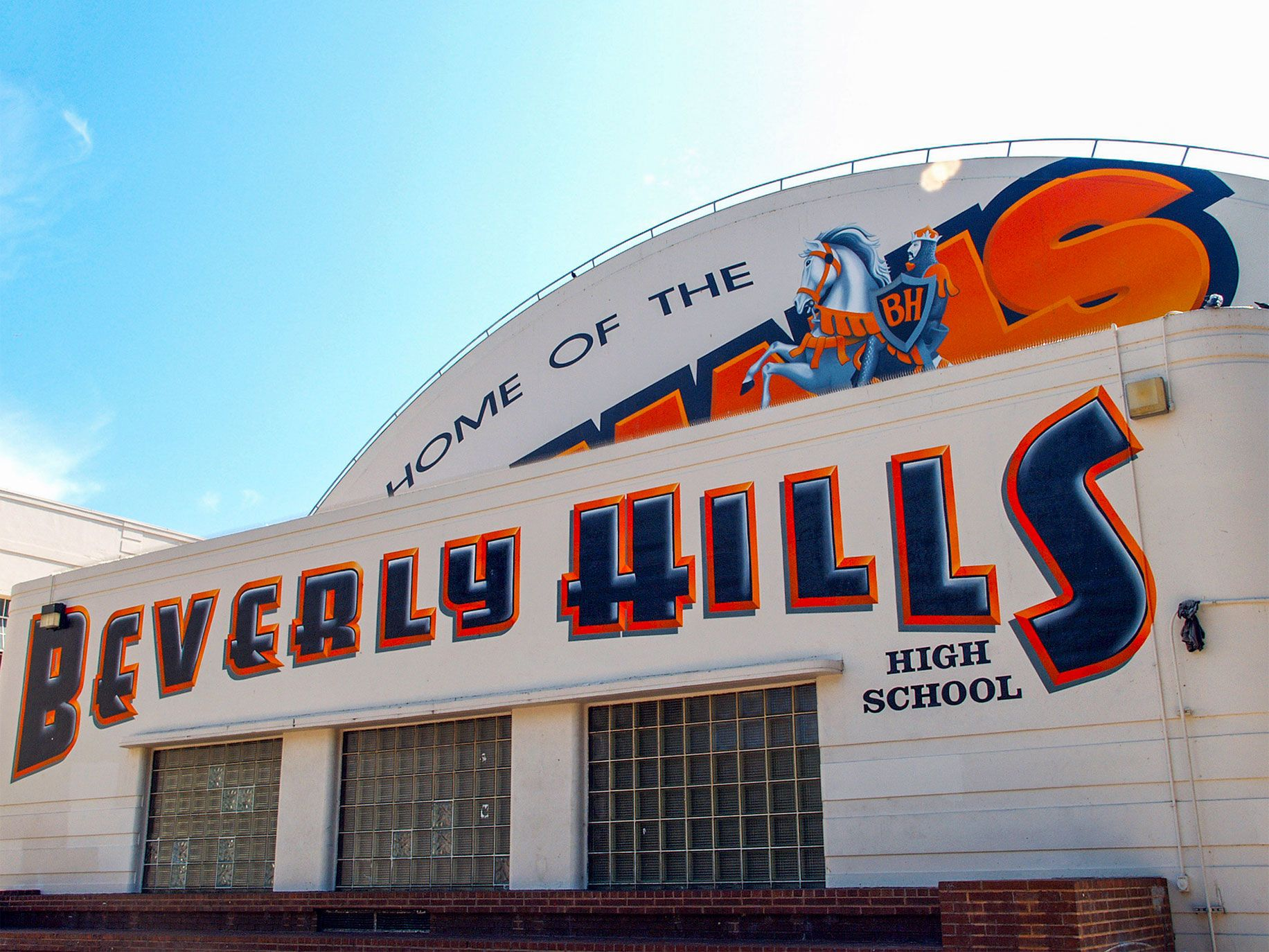 With a glittering list of alumni that includes Jamie Lee Curtis, Barry Diller, Angelina Jolie and Rob Reiner, as well as a basketball court that converts into a swimming pool, Beverly Hills High is one of the nation's most famous high schools.