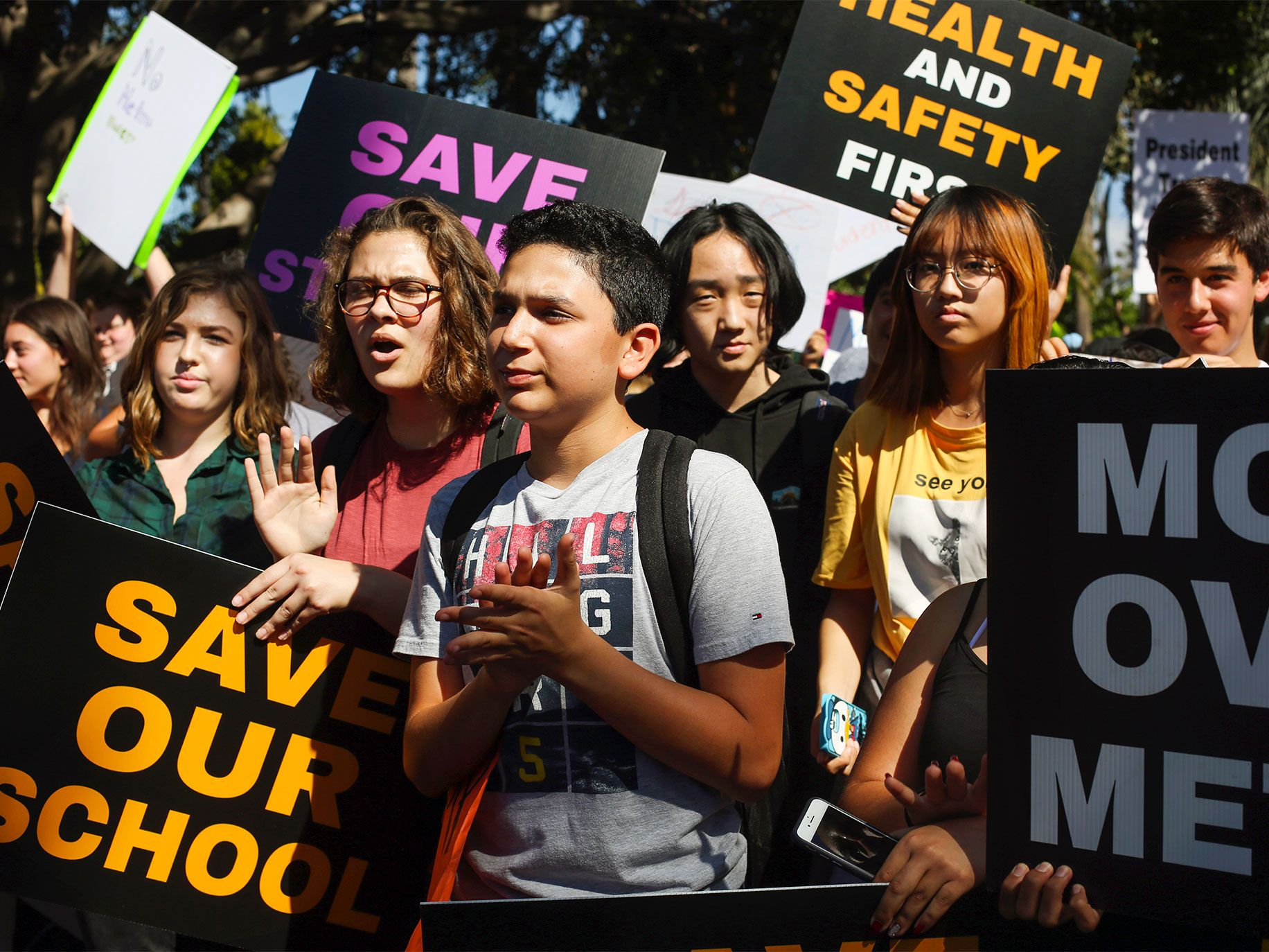 In a demonstration organized by school administrators, students from the Beverly Hills Unified School District rallied at Will Rogers Memorial Park in October to protest the extension of LA Metro's Purple Line subway under Beverly Hills High.