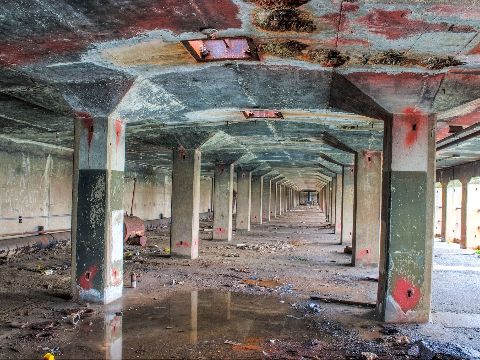 Urban explorers have photographed the subterranean dry docks at the Richmond shipyard, the world's center for shipbuilding during World War II. Hundreds of ships were built there, and it's now designated as Rosie the Riveter National Historic Park.