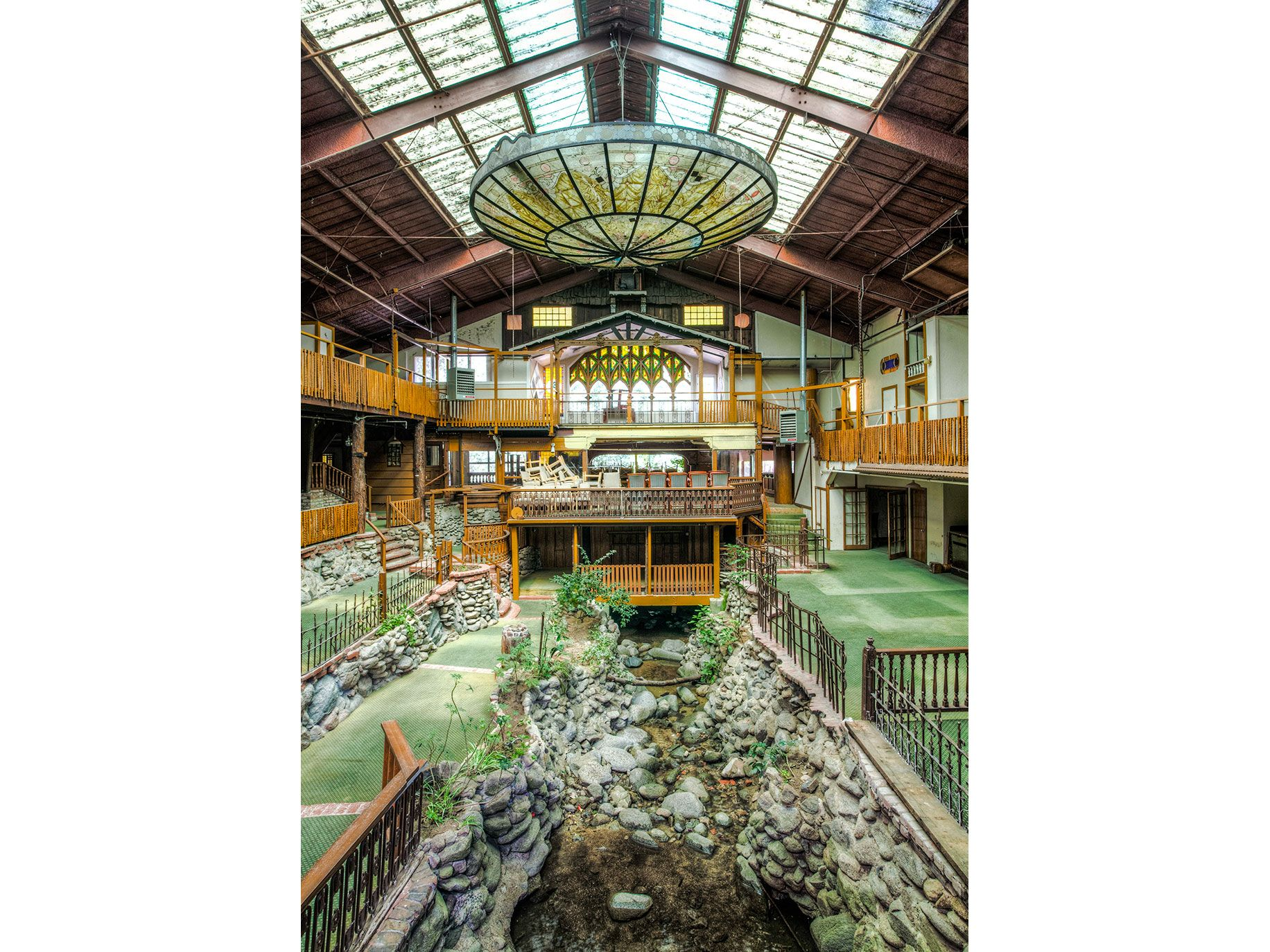 Brookdale Lodge in Santa Cruz County, was a favorite resort for Hollywood stars like Mae West, Marilyn Monroe and Rita Hayworth. Abandoned after a fire in 2009, it became a popular spot for urban explorers before being renovated and reopening last year.