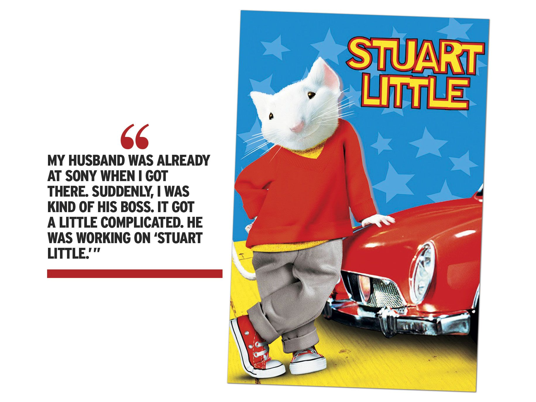 """Stuart Little"" movie poster"