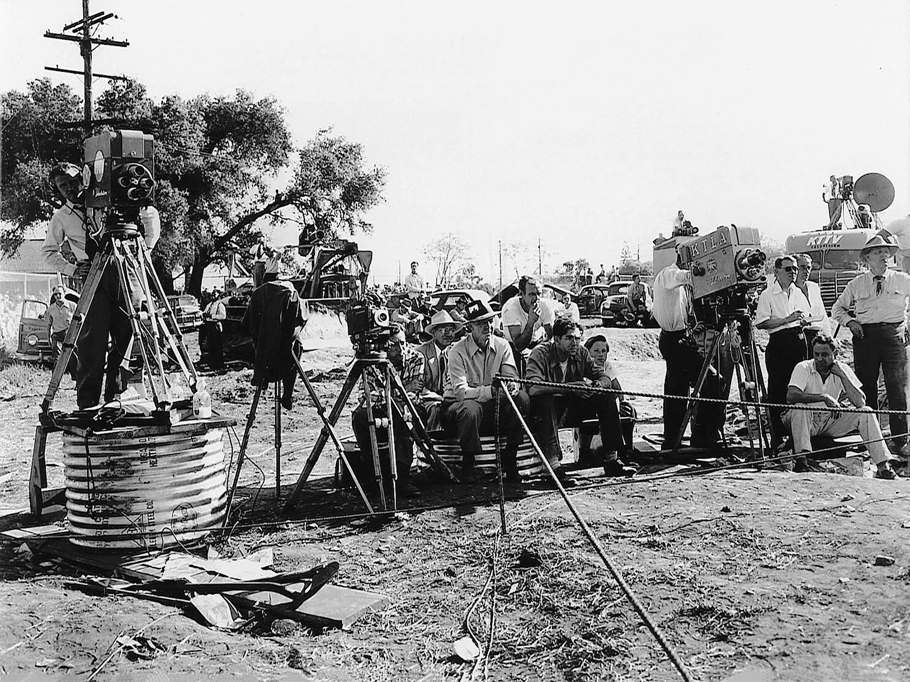 TV, radio, newsreel and print reporters gathered at the site of the rescue attempt. The search for the girl down the well was the first major live televised news event.