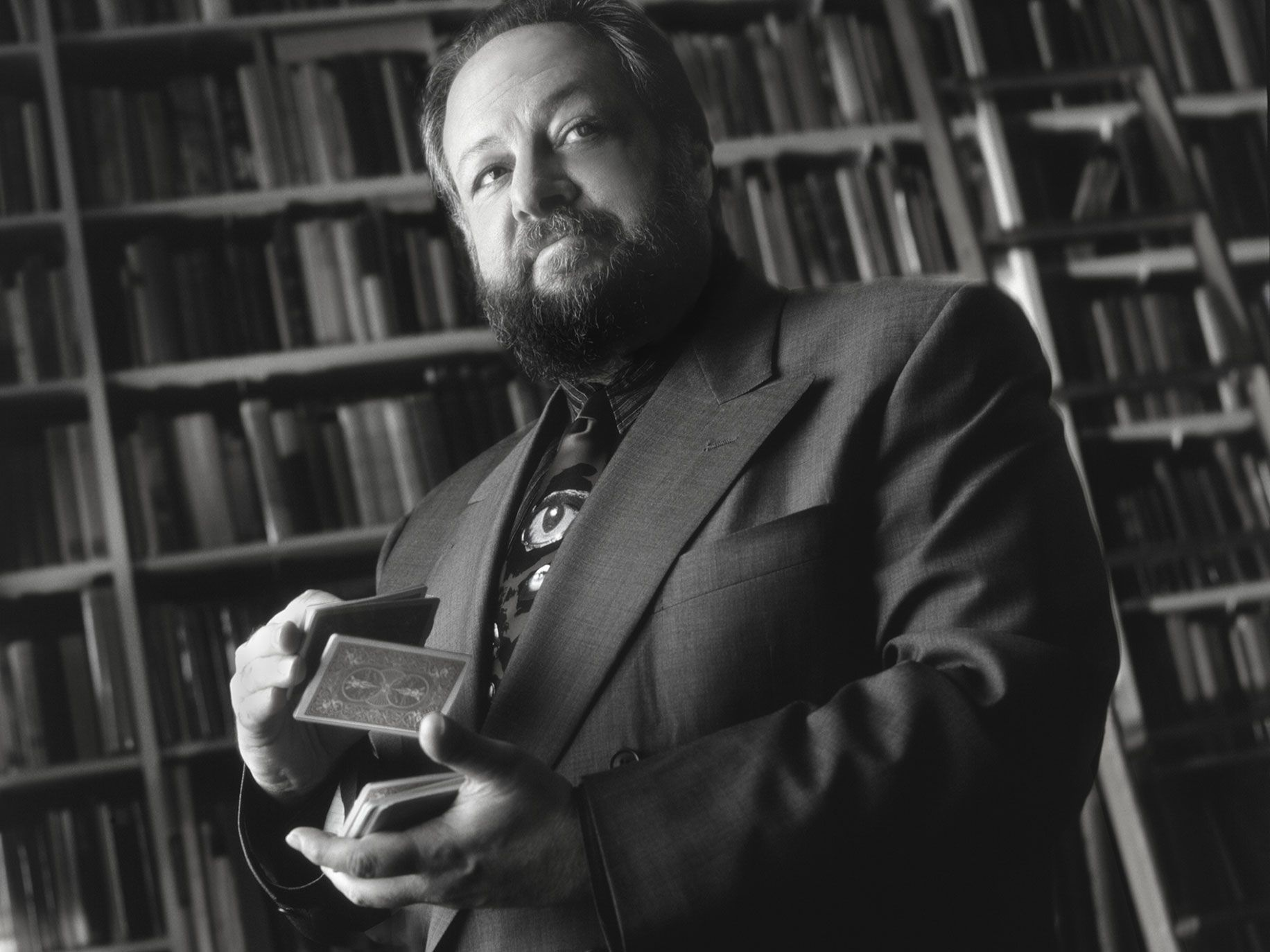 Magician, actor, writer, Ricky Jay shot at his favorite bookstore in Los Angeles in 1994.