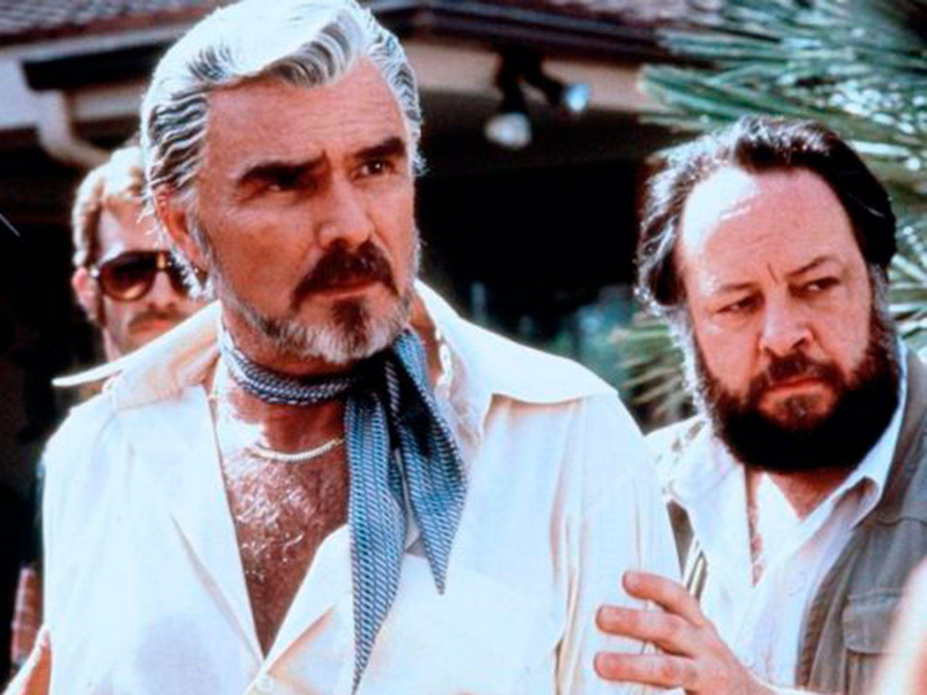 "Burt Reynolds, left, and Ricky Jay in ""Boogie Nights."""
