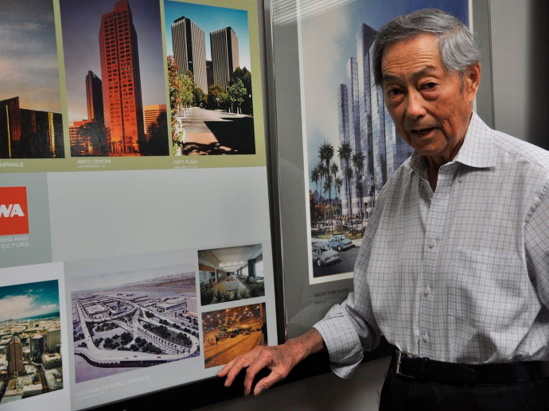 Los Angeles based architect Gin Wong and some of his works.