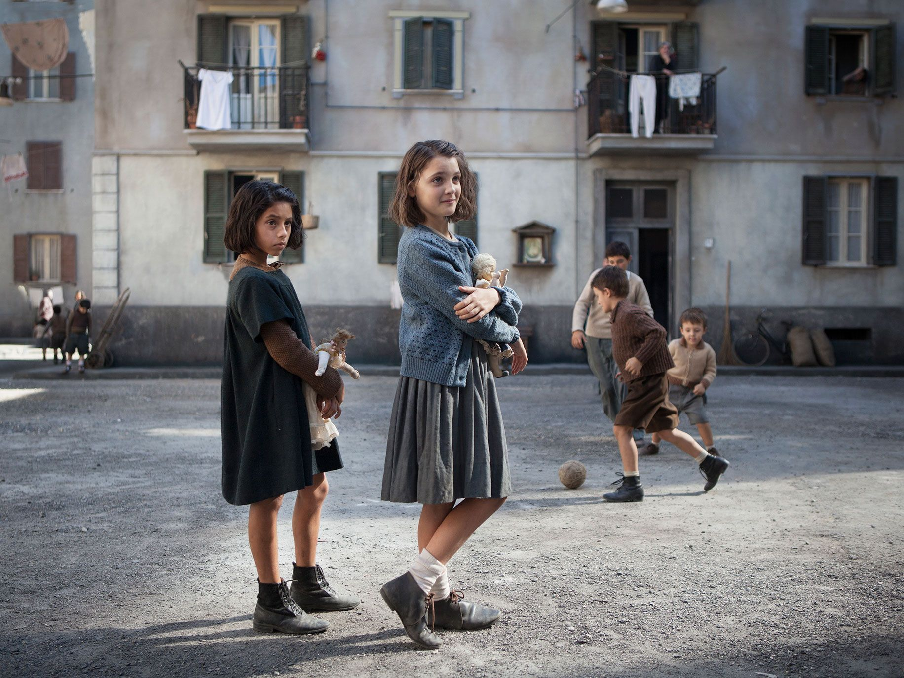 "Ludovica Nasti and Elisa Del Genio in HBO's ""My Brilliant Friend."""