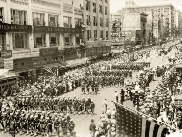 November 11, 1918: The end of World War I enables Los Angeles's soldiers to return home, stimulating the local economy.