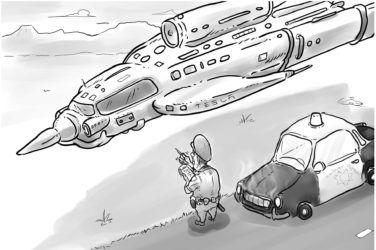 """Ha, ha, ha, very funny, Mr. Musk."""