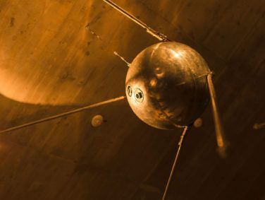 Replica of the Russian satellite Sputnik.