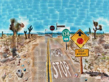 Pearblossom Hwy., 11–18th April 1986, #2, by David Hockney.