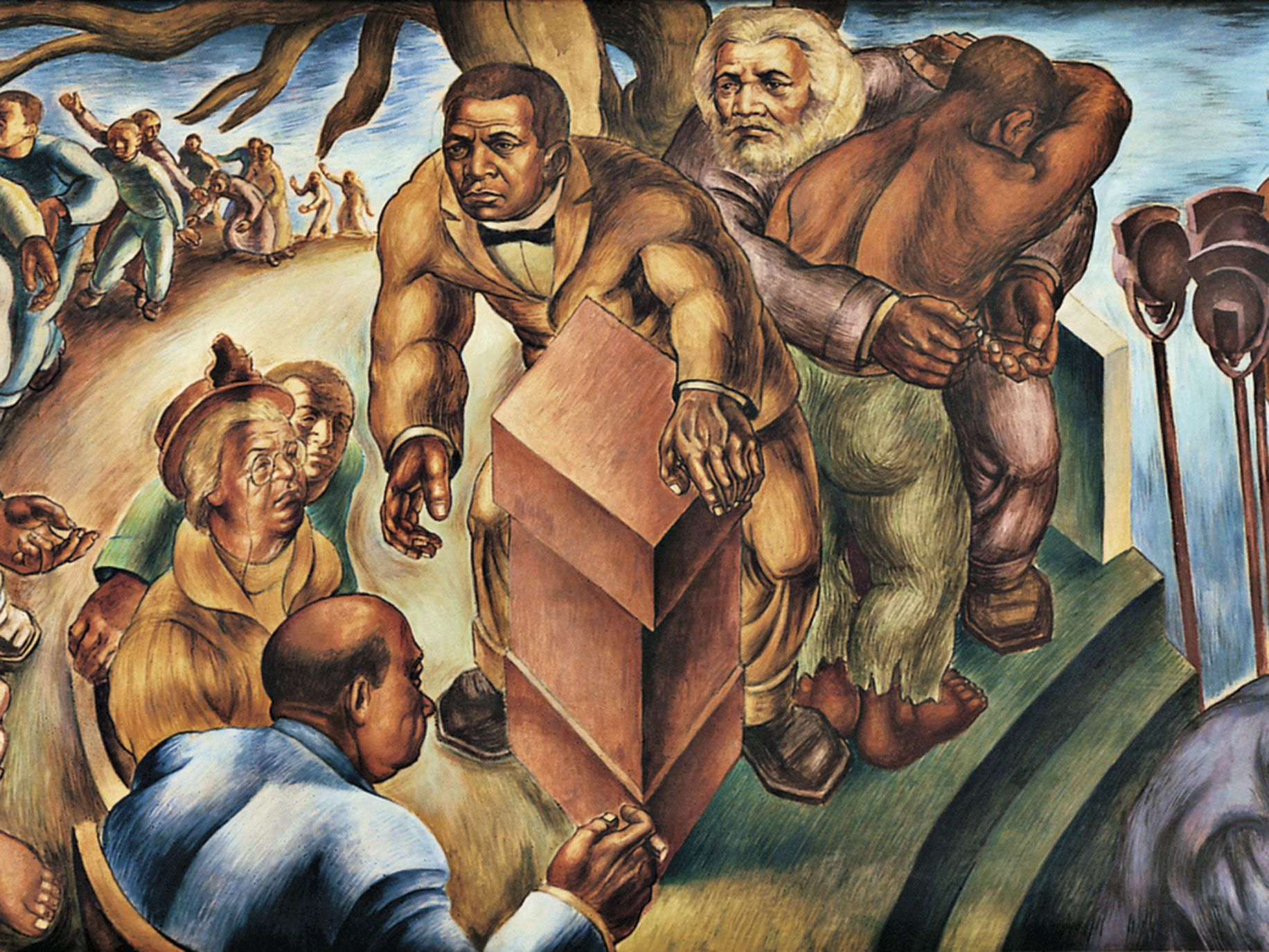 Detail of Five Great American Negroes (1939), by Charles White (American, 1918–79), oil on canvas. From the collection of the Howard University Gallery of Art, Washington, D.C.