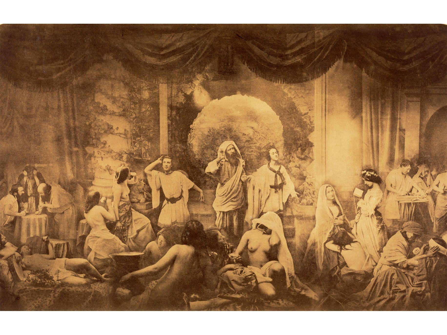 Two Ways of Life (1857), by Oscar Rejlander, albumen silver print.
