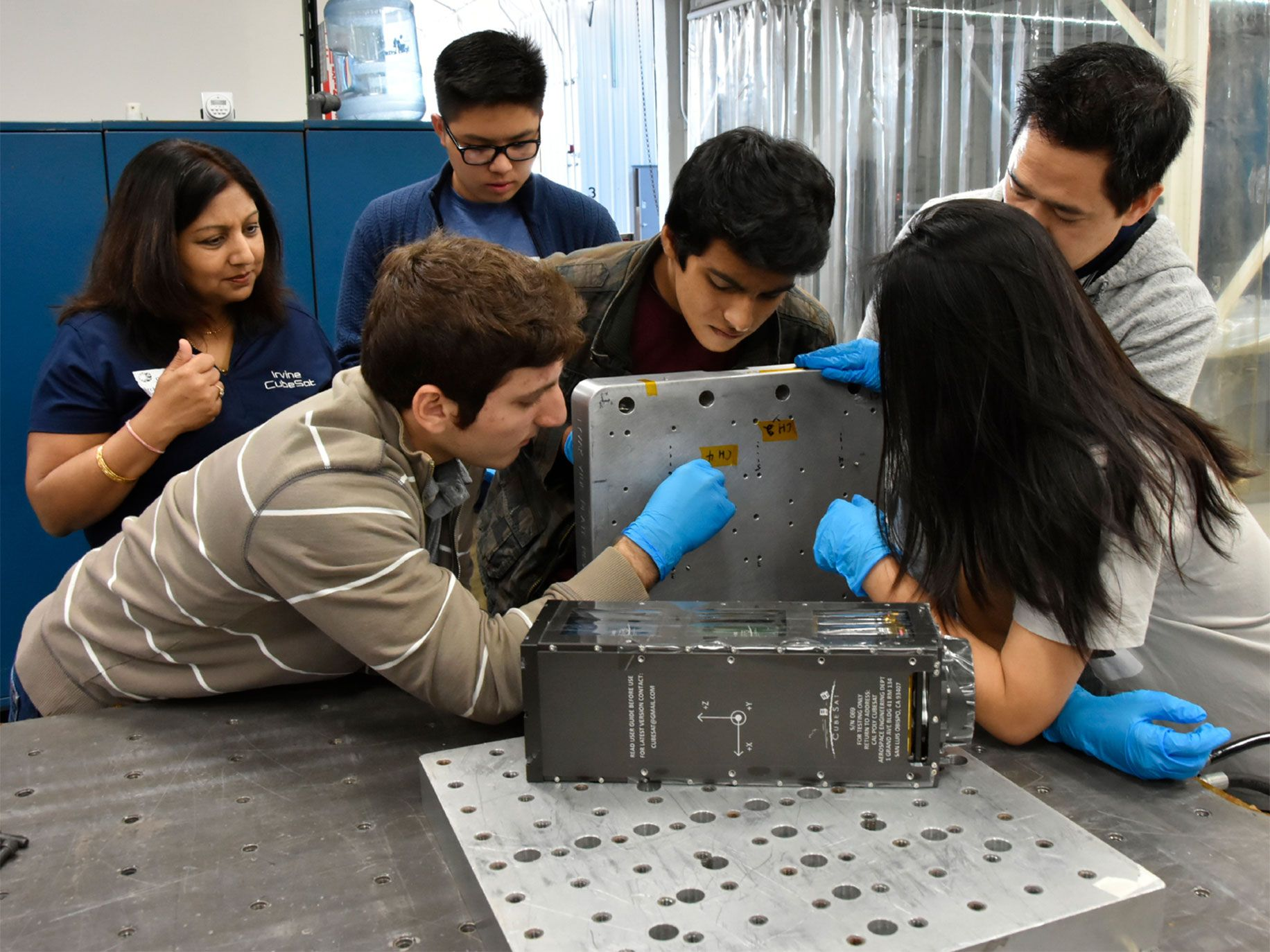 High school students in Irvine, California, designed, built, and oversaw the successful deployment of two cube satellites in late 2018.