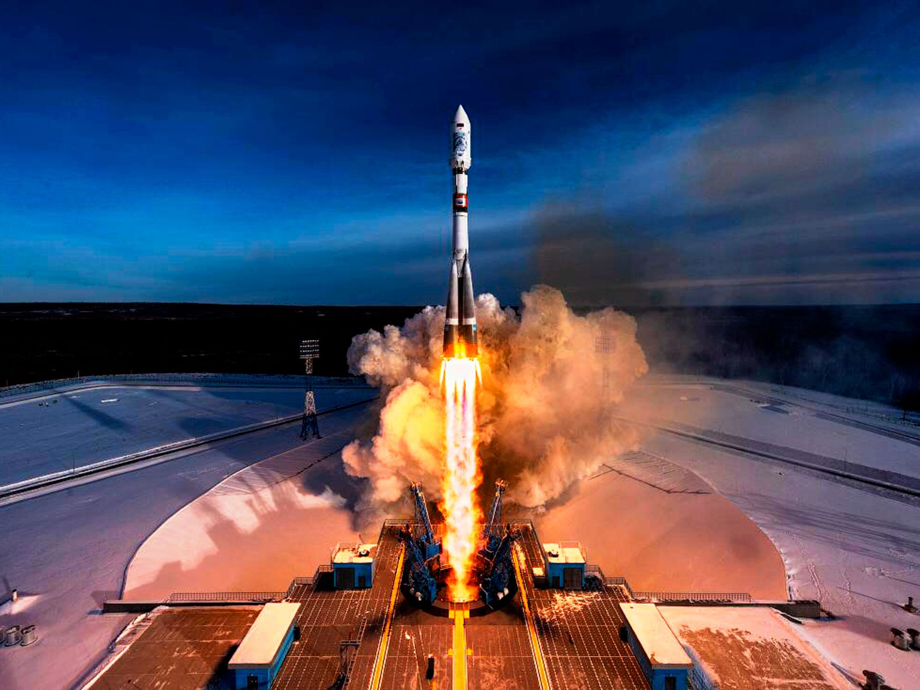 Planet sends its satellites into orbit as low-cost, secondary payload on rockets. In July 2017, a Soyuz spacecraft carried 48 Dove satellites into space.